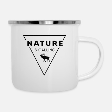 Nature Nature - Nature is calling - Enamel Mug
