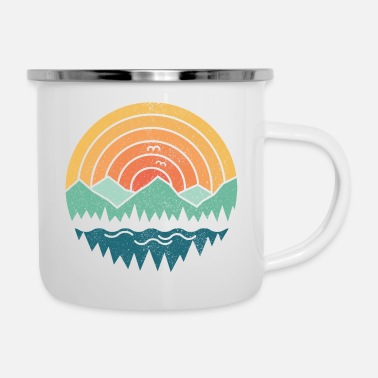 Vintage Vintage Mountains - Emaille-Tasse