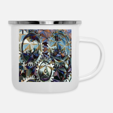 Structure GearGears in structure, gears in structure. - Enamel Mug