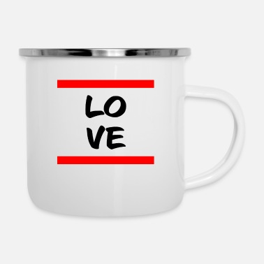 Loves Love, love, loving, in love - Enamel Mug