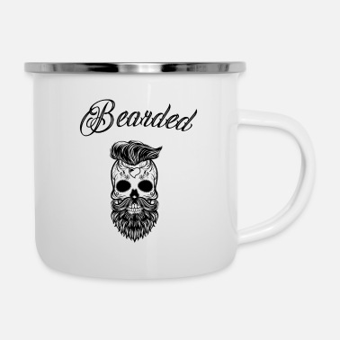 Stylish Skull Bearded Skull Stylish Bearded - Emaille mok