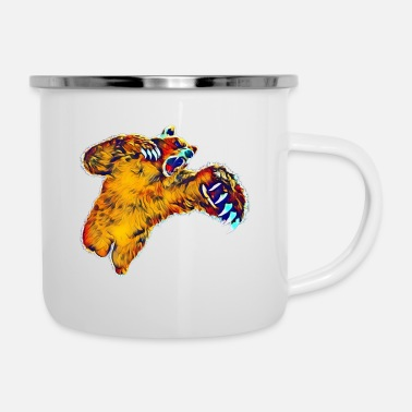Grizzly Grizzly - Emaille-Tasse