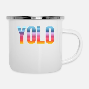 Funny Bible Parody YOLO Jk BRB Lol Jesus Tshirt Design God Faith - Enamel Mug