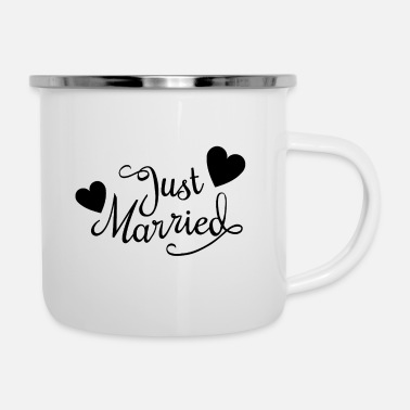 Just just married - Emaille-Tasse