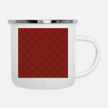 Christmas pattern red - Enamel Mug