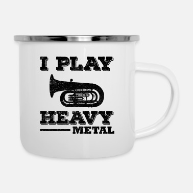 Heavy Metal Tuba Marching Band Player Muziekinstrument Grappig - Emaille mok