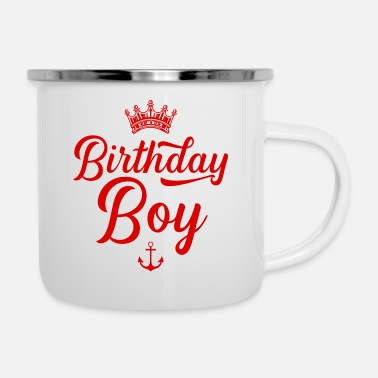 Brother Of Birthday Boy Birthday boy birthday boy - Enamel Mug
