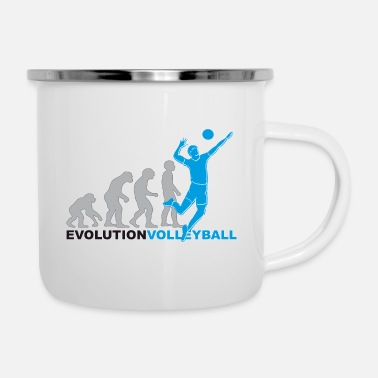 Volleyball Player Evolution volleyball, volleyball, volleyball players - Enamel Mug