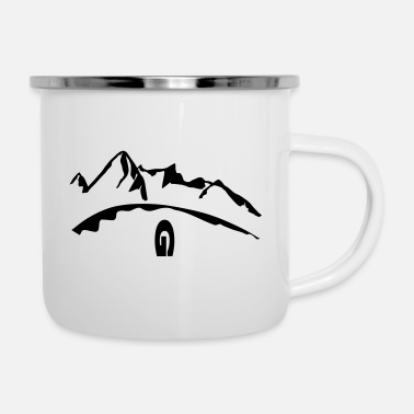 Summit envy Bergliebe high mountains - Enamel Mug