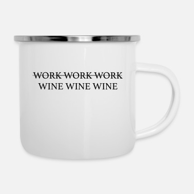 Worker work work work - Emaille-Tasse
