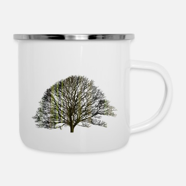 Texturas The tree and the earth - Enamel Mug