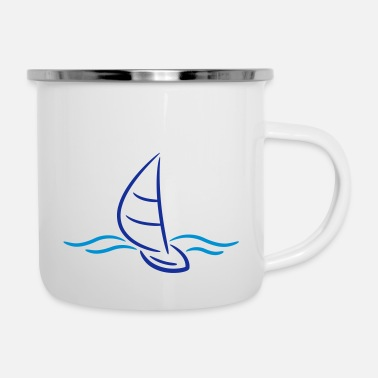 Boad Sport Sailing Boad And Waves Logo - Emaille mok