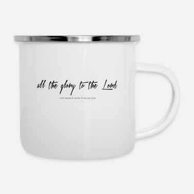Christian Online Shop glory to the lord - Enamel Mug