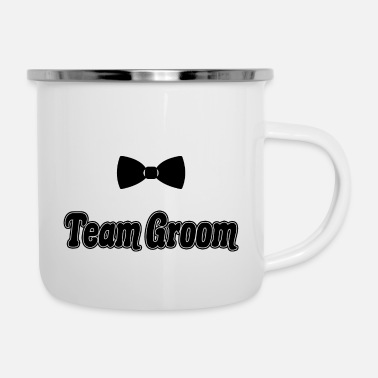 Squad Team Groom Future Husband Bachelor Party Gift - Enamel Mug