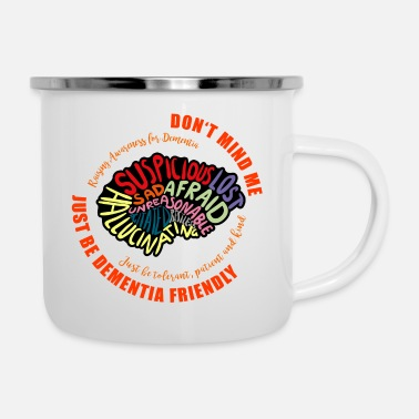 Vascular Dementia Just Be Dementia Friendly - Enamel Mug