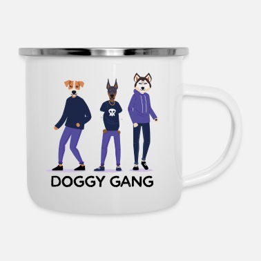 Gang doggy gang - Emaille mok