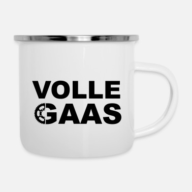 Gas Volle Gaas - Emaille mok