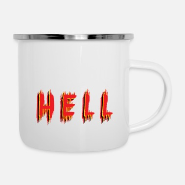 Hell hell - Emaille-Tasse