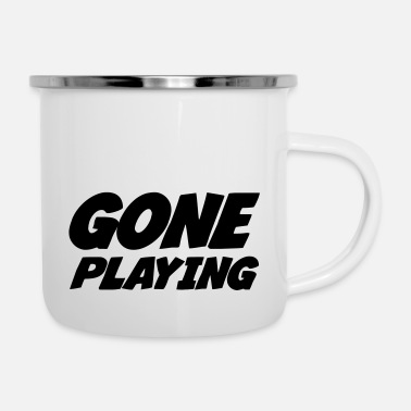 Gone playing/gaming - Taza esmaltada
