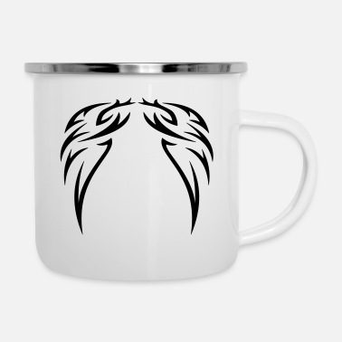 Muster tattoo wings - Tattoo Flügel - Emaille-Tasse