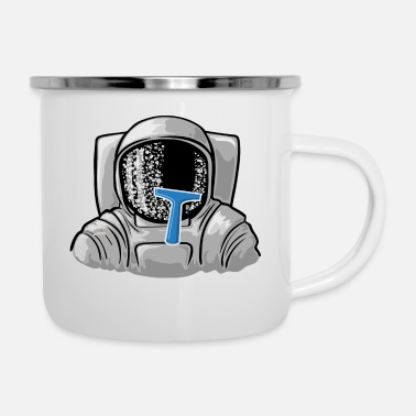 Frost Astronaut mit Frost - Emaille-Tasse