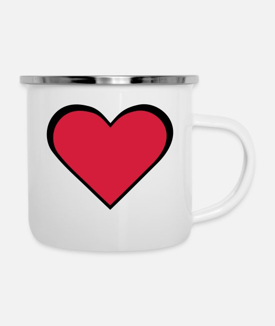 Corazon Mugs et tasses - Heart Love - Mug émaillé blanc