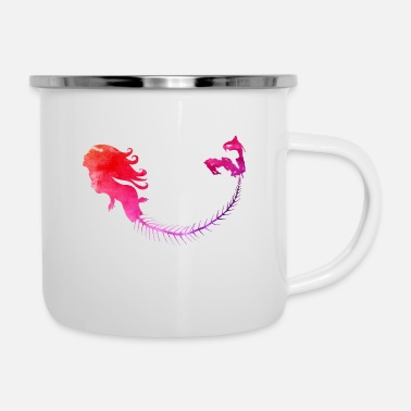 Mermaid pink - Emaille-Tasse