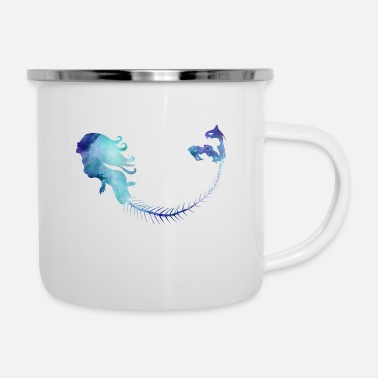 Mermaid Blue - Emaille-Tasse