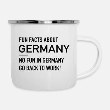 Fun German Fun Facts - Emaille-Tasse