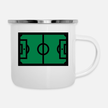Playing Field Soccer field, playing field, soccer - Enamel Mug