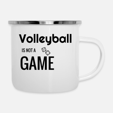 Volley Volleyball - Volley Ball - Volley-Ball - Sport - Emaille mok