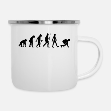 Sprint Leichtathletik Sprint Sprinter Sprinten Evolution - Emaille-Tasse