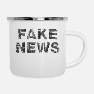Fake FAKE NEWS - Emaille mok