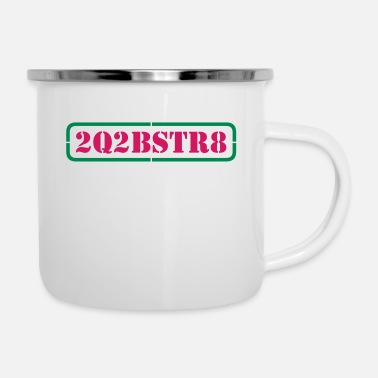 Word Comedy Party too cute to be straight (1-2c) - Enamel Mug