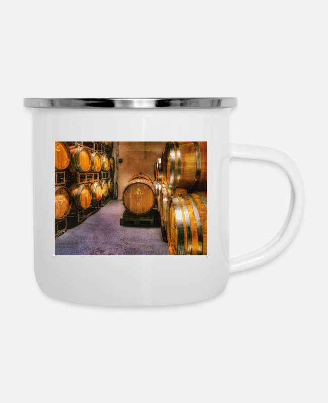 Leather Pants Mugs & Drinkware - Winemaker - Enamel Mug white