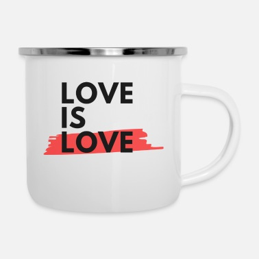 Loves Love is Love - love is love - Enamel Mug