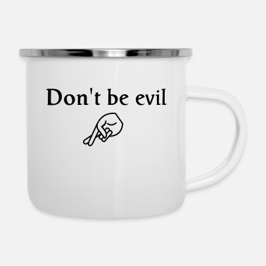 Grappig don't be evil ( search engine slogan) - Emaille mok