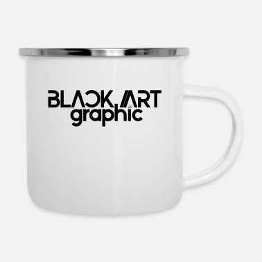 Graphic Art Black Art Graphic Hoodie WMNS - Emaille-Tasse