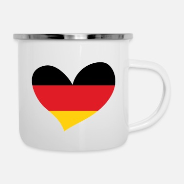Flag Of Germany Germany, German Flag Heart, I Love Germany - Enamel Mug
