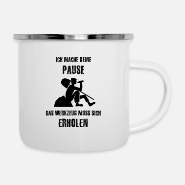 Pause Pause - Emaille-Tasse