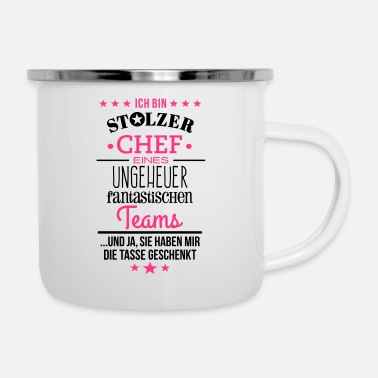 Ungeheuer fantastisches Team / Chef Edition - Emaille-Tasse