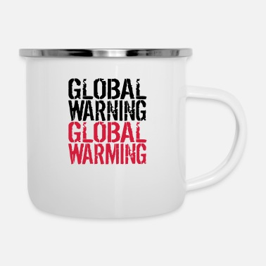 Global Global Warning - Global Warming - Emaille mok