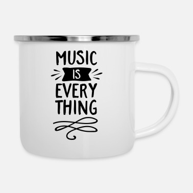 Music Music Is Everything - Emaille mok