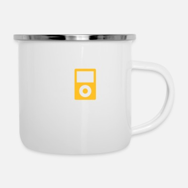 Mp3 / MP3-Player - Emaille-Tasse