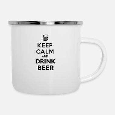 Keep Calm And Drink Beer - Enamel Mug