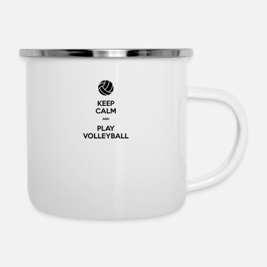Keep Calm And Play Volleyball - Enamel Mug