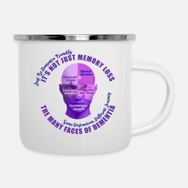 Vascular Dementia The Many Faces of Dementia - Enamel Mug