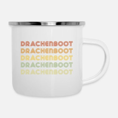 Dragon Boat Dragon Boat Dragon Boat Dragon Boat - Enamel Mug