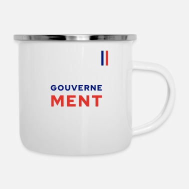 Government Governs MENT - Enamel Mug