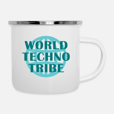 Konzert World techno tribe Music Geschenk Raving Konzert - Emaille-Tasse